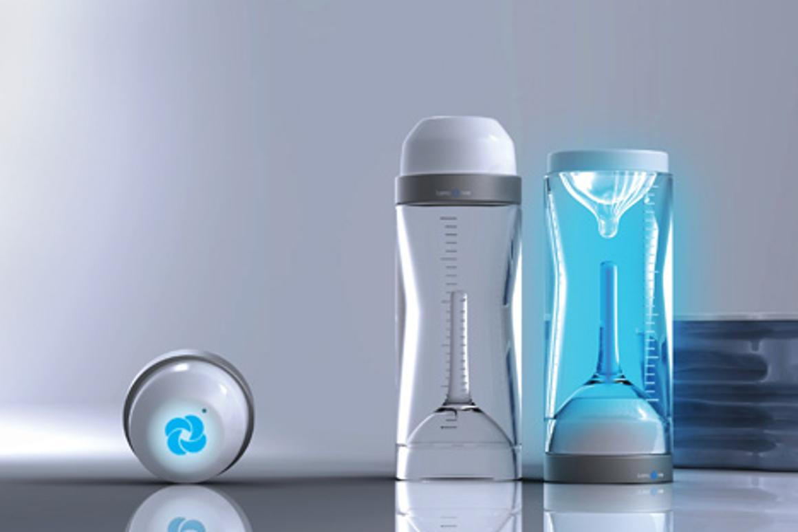 Pureray baby bottle concept uses ultraviolet light to kill nasty germs and viruses