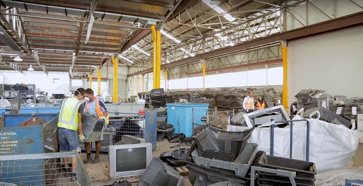 Electronic waste can be broken down and repurposed into materials useful for industrial and commercial applications using SMaRT's e-waste microfactory