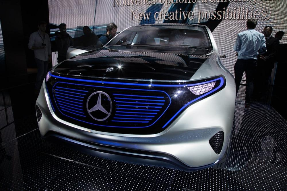 The Mercedes Generation EQ concept at the 2016 Paris Motor Show