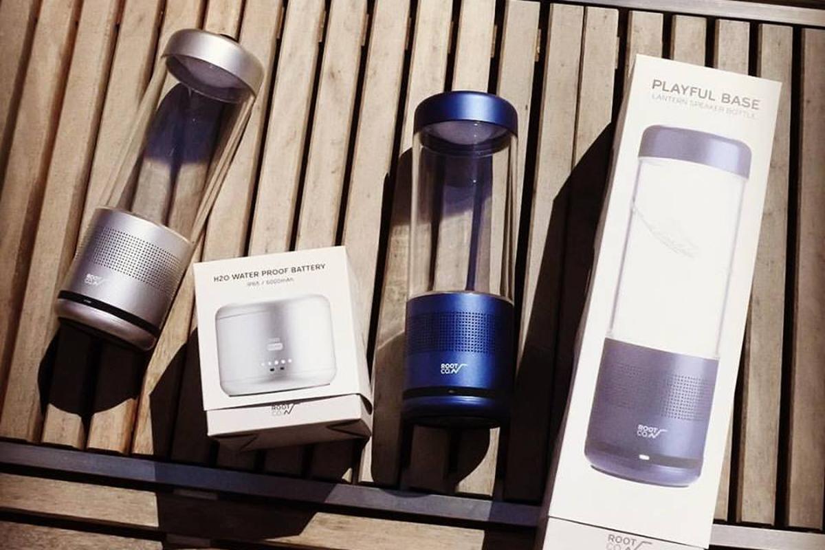 The multifunctional Playful Base blends lantern, flashlight, speaker and charger