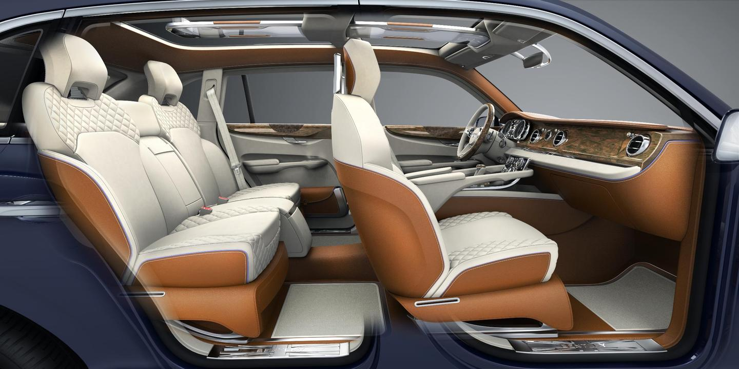 The Bentley interior provides a level of luxury not typically seen on an SUV