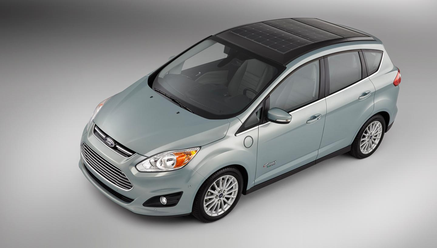 The C-Max Solar Energi Concept uses solar panels on its top for charging