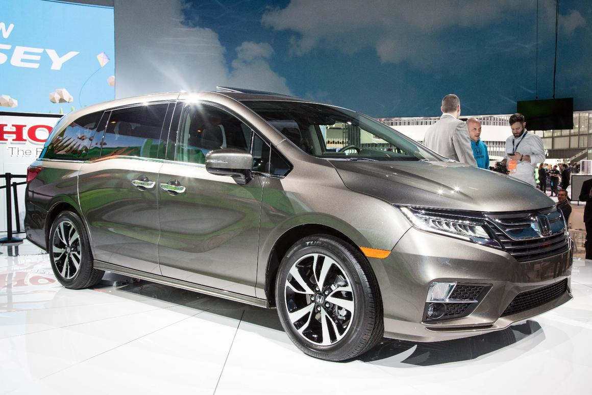 The 2018 Honda Odyssey debuts at the 2018 Detroit Auto Show