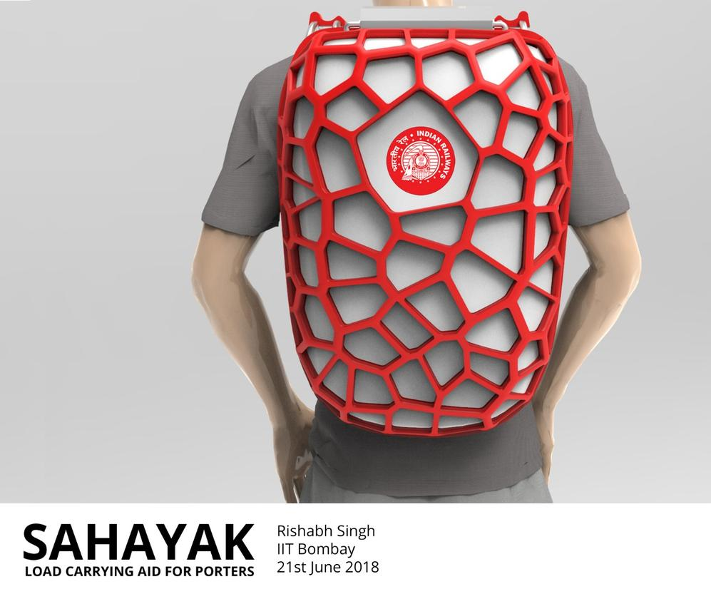 Sahayak, a load-bearing backpack designed to lighten the load for Indian porters