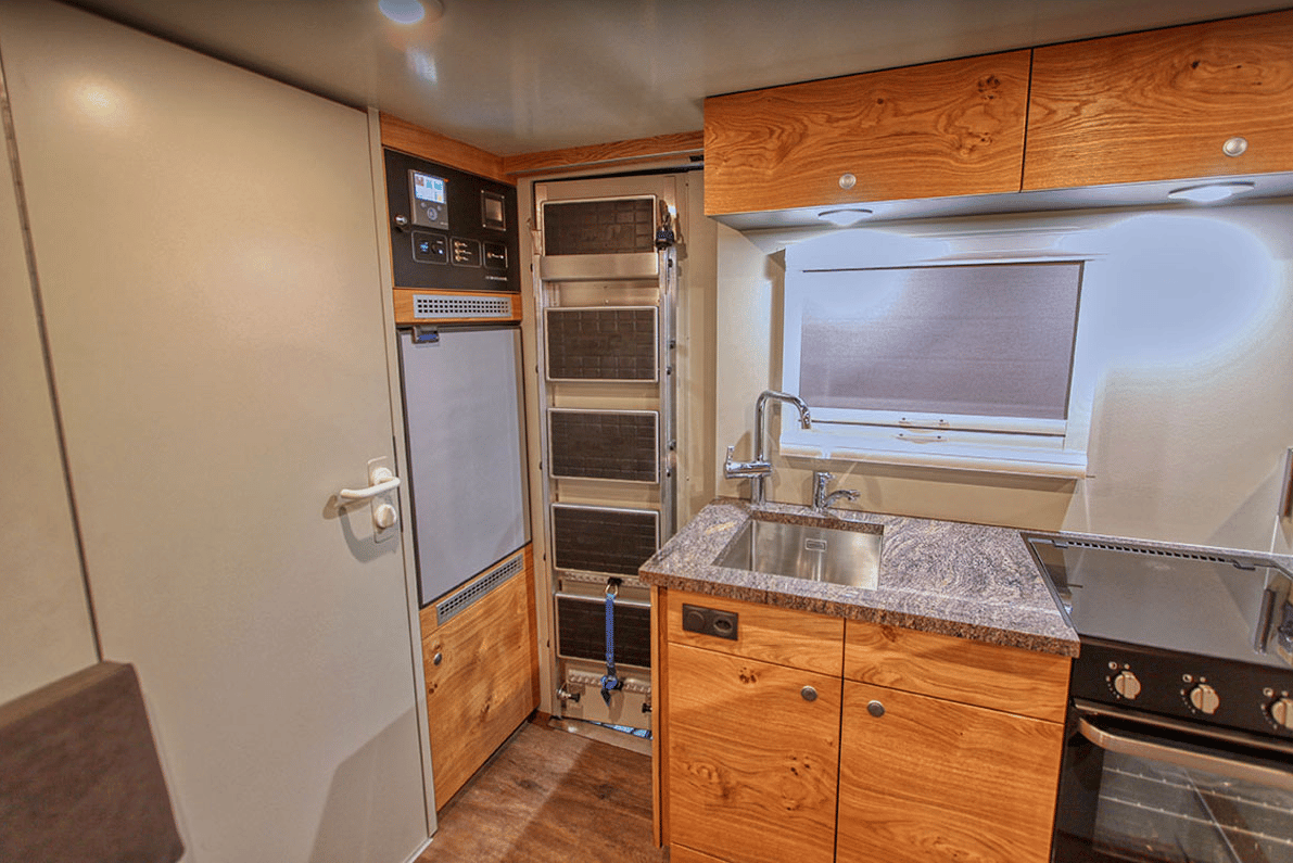 Action Mobil still fits a nice, fully equipped kitchen inside