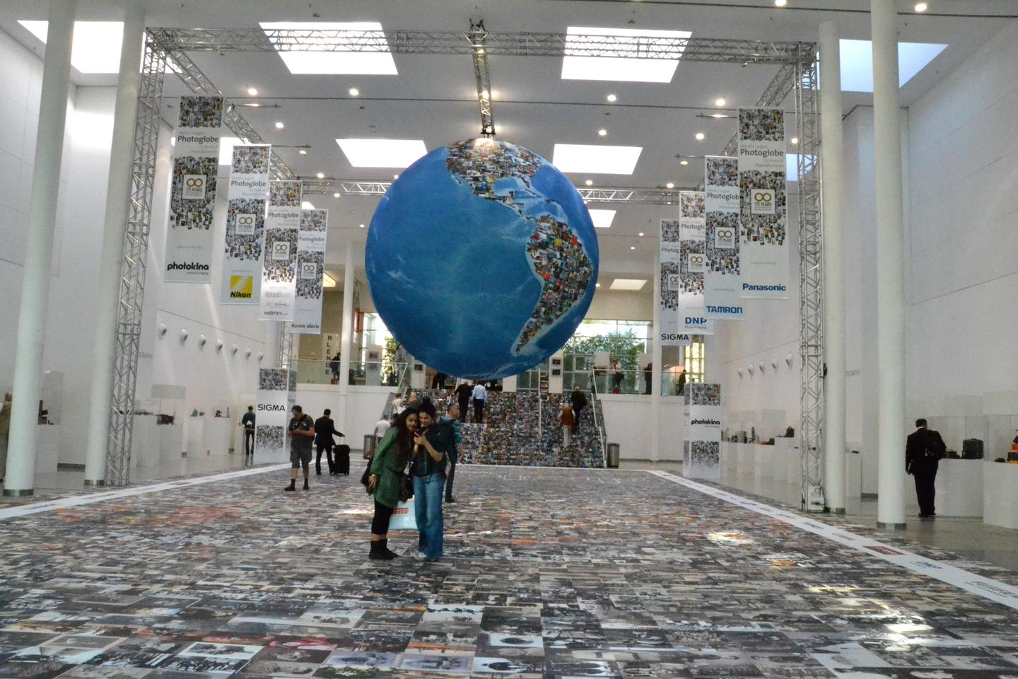 "The ""Largest Photoglobe in the World"" celebrates 175 years of photography at Photokina (Photo: Paul Ridden/Gizmag)"