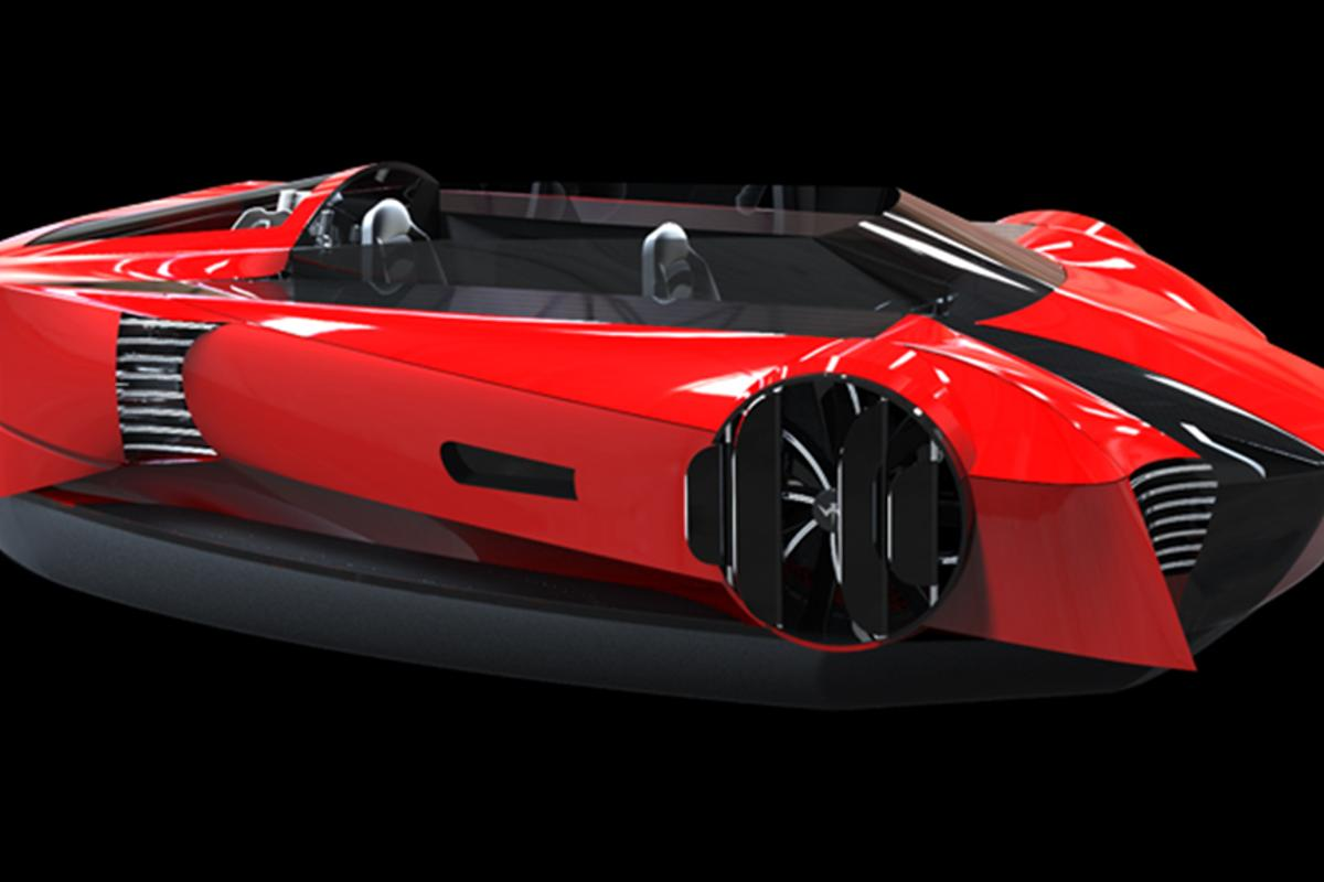 The Mercier-Jones hovercraft design was inspired by luxury sports cars