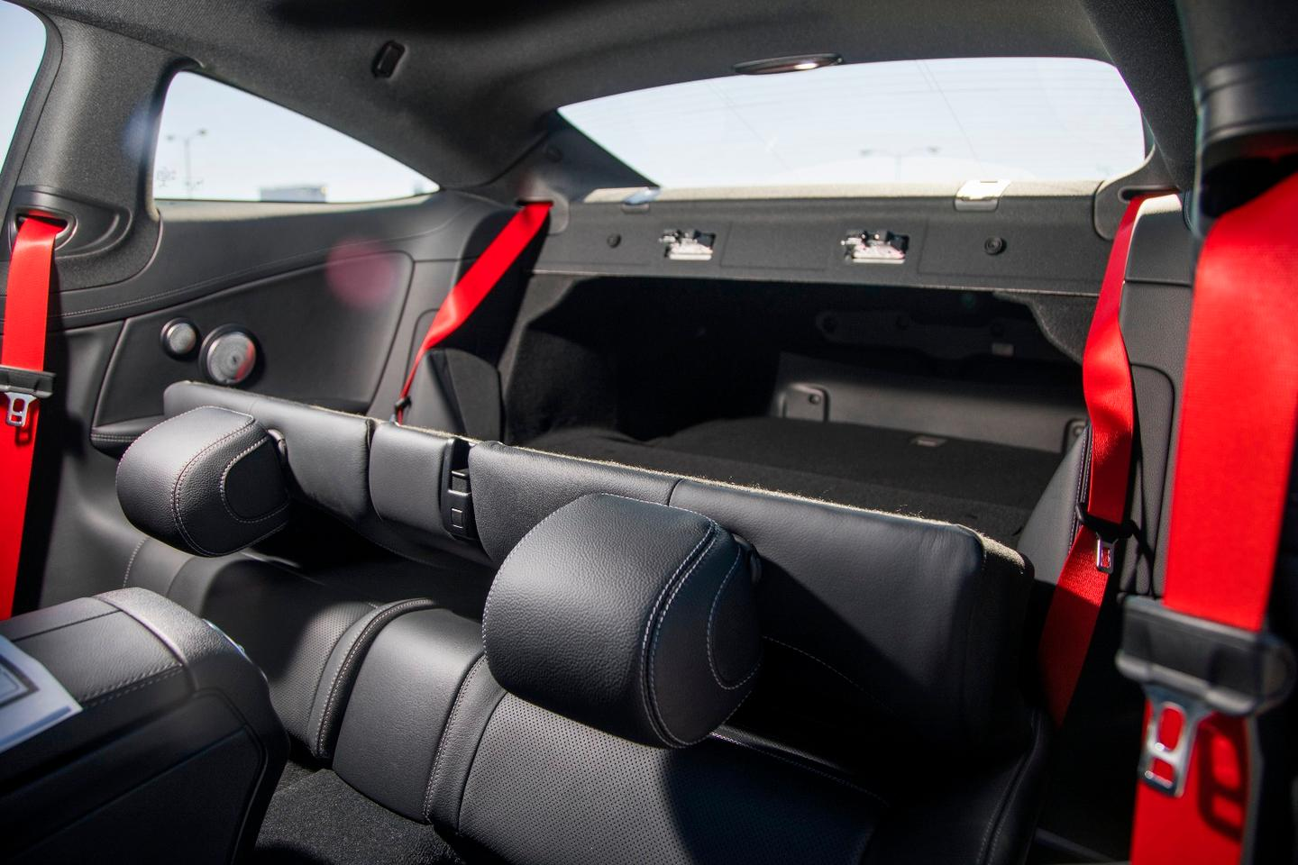 The cramped rear seating, while beautiful to look at, is largely for children or pets, but folds down to add some extended cargo space for the 2018 C43