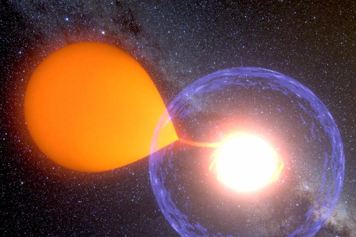 Artists impression of a classical nova explosion