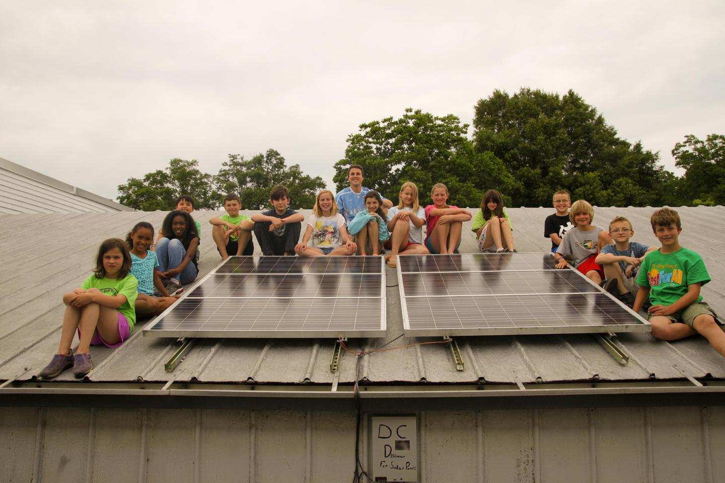 Aaron Sebens and his class of fourth-graders from the Central Park School for Children in Durham, North Carolina