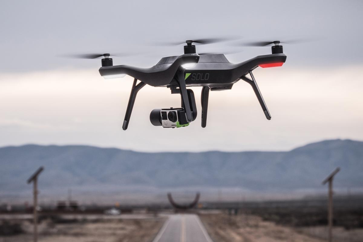 The 3DR Solo quadcopter is a consumer-level quadcopter designed to make impressive aerial photography easy