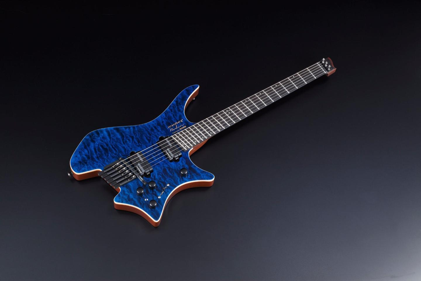 The V-BDN VG-Strandberg guitar essentially takes the Swedish guitar maker's future modern Bodin model and throws in Boss V-Guitar modeling technology