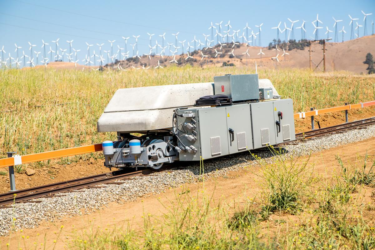The ARES system uses electric locomotives as a form of energy storage