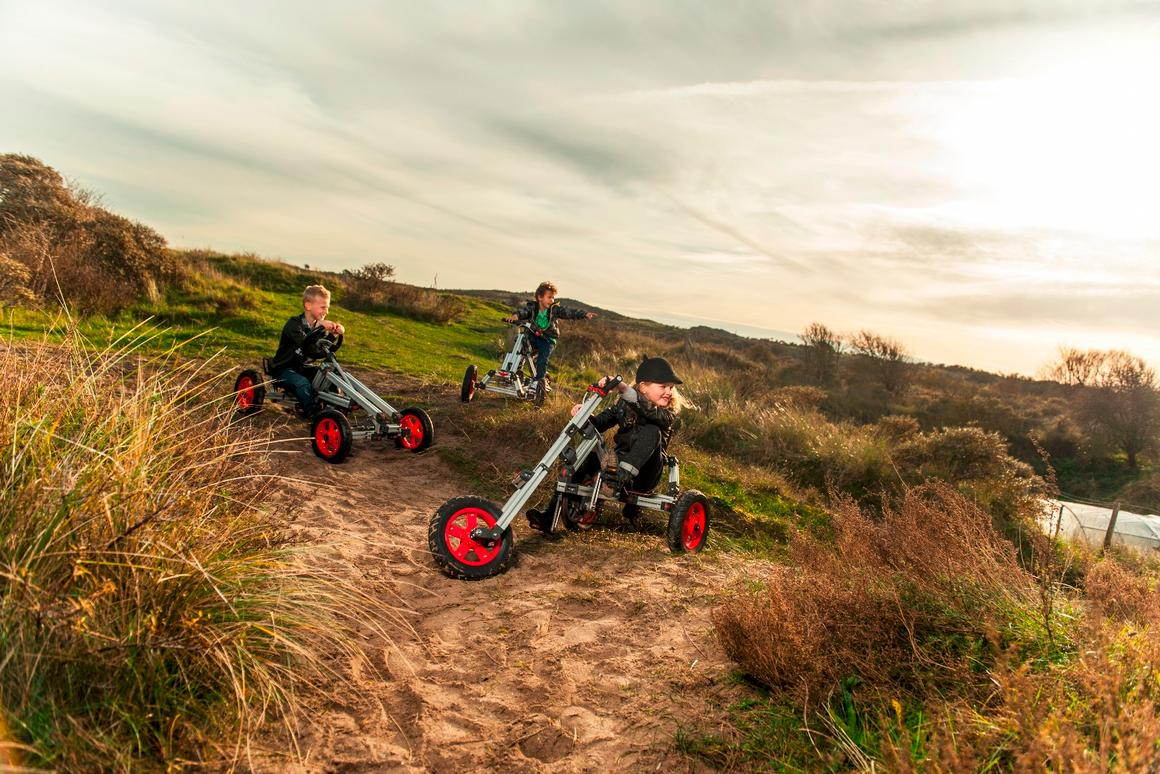 The reconstructible Infento lets young designers build 19 models of scooters, bikes, trikes, carts, and sledges