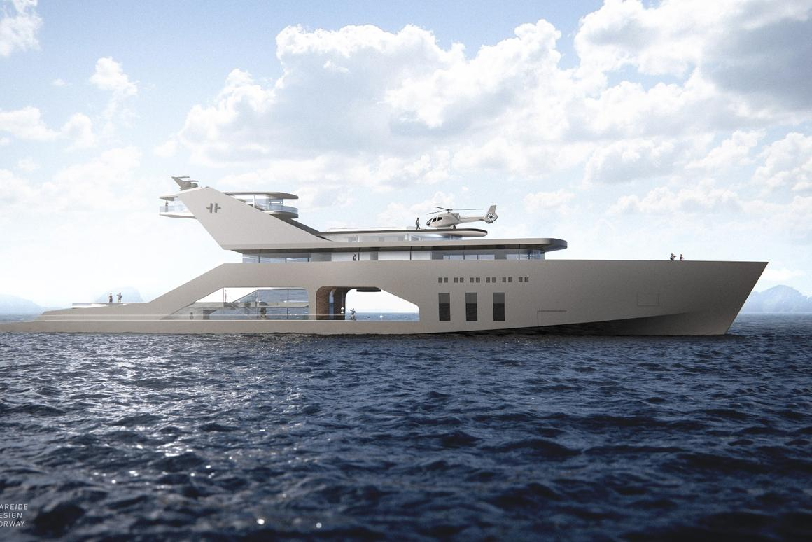 Hareide Design's super yacht is just a concept, but could become reality if your pockets are deep enough