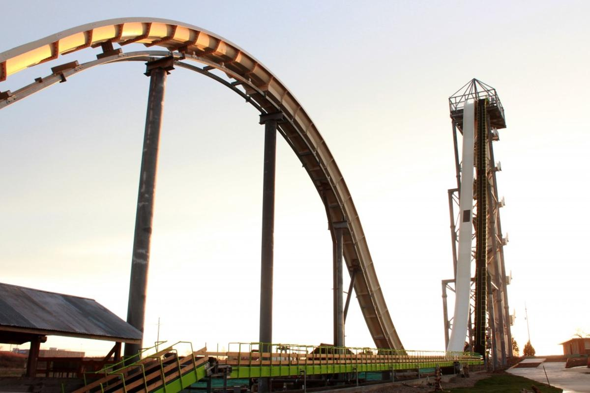 The world's tallest waterslide, The Verrückt, has opened at Schlitterbahn Kansas City Waterpark