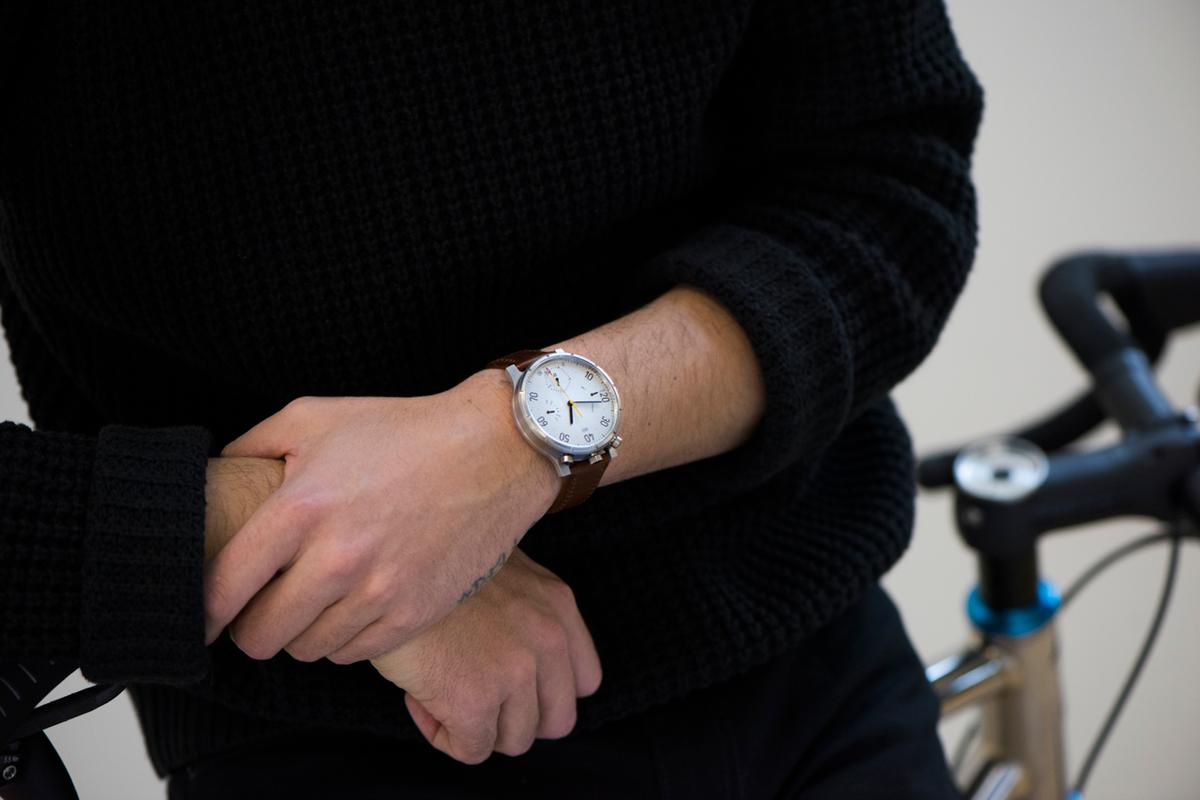 The Moskito is worn on the wrist, or on the bike
