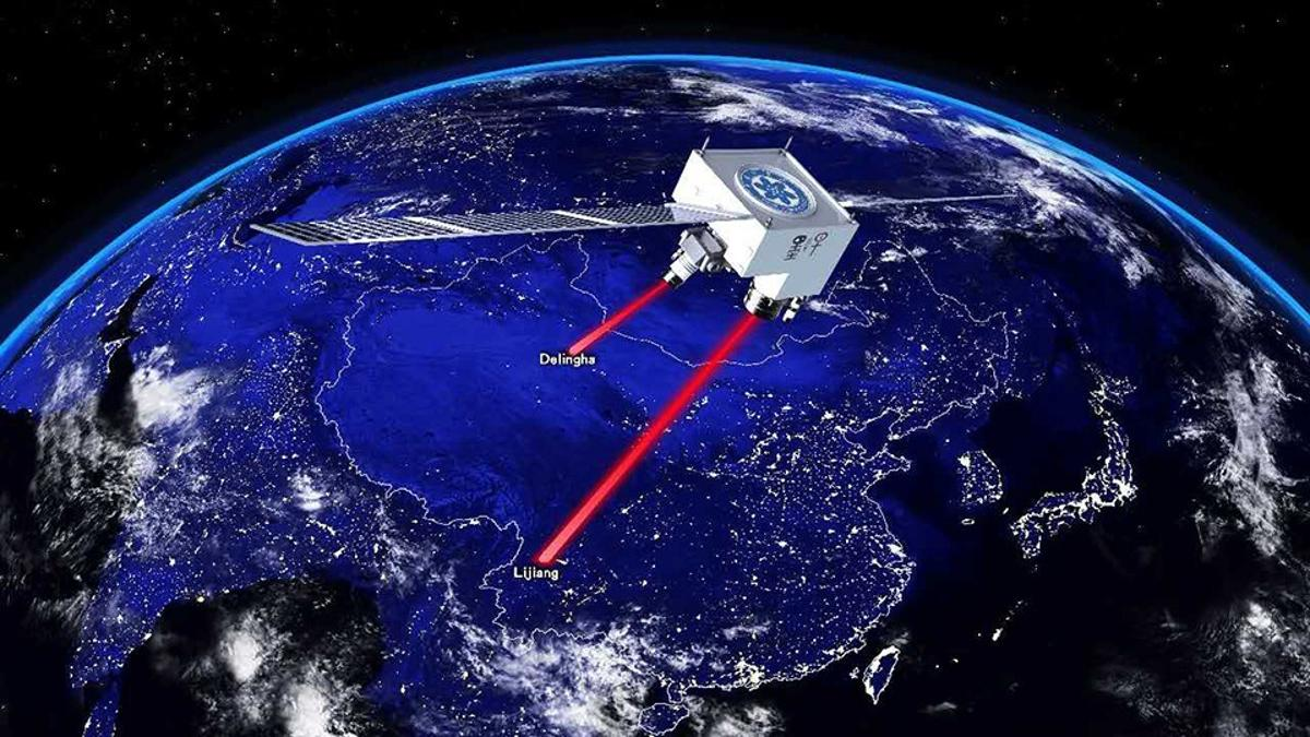The Chinese satellite Micius has helped break the quantum teleportation distance record, transmitting entangled photons across a distance of 1,200 km (746 mi)