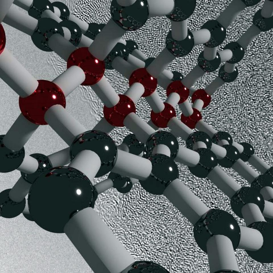 Visualization of ultrastrong, hard and elastic compressed glassy carbon