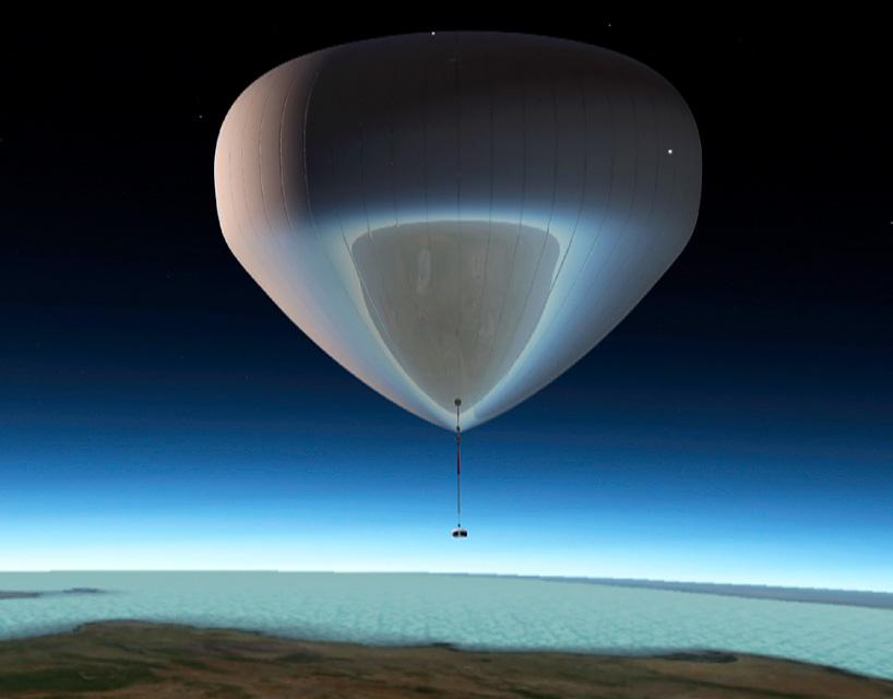 The bloon is designed to fly passengers to near-space at an altitude of 36 km