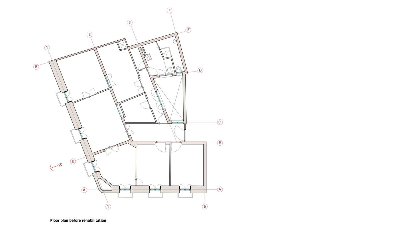 Architectural drawing of Bathyard home