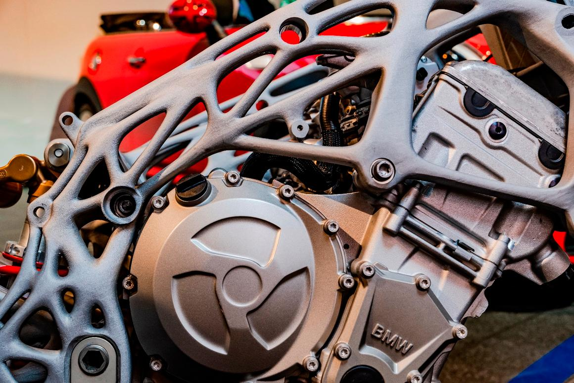 BMW hints at future plans, with 3D-printed motorcycle frame