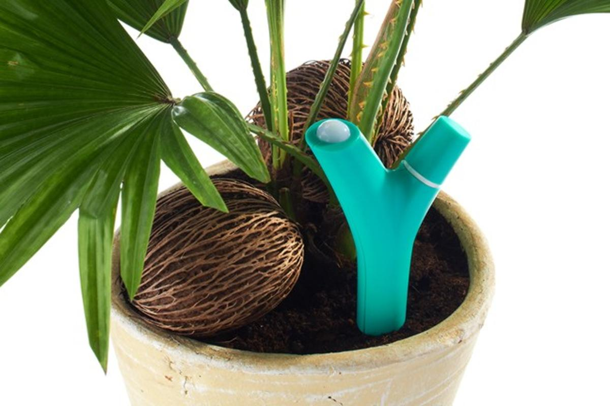 Flower Power is a wireless device that alerts you via your mobile device when your plants need attention
