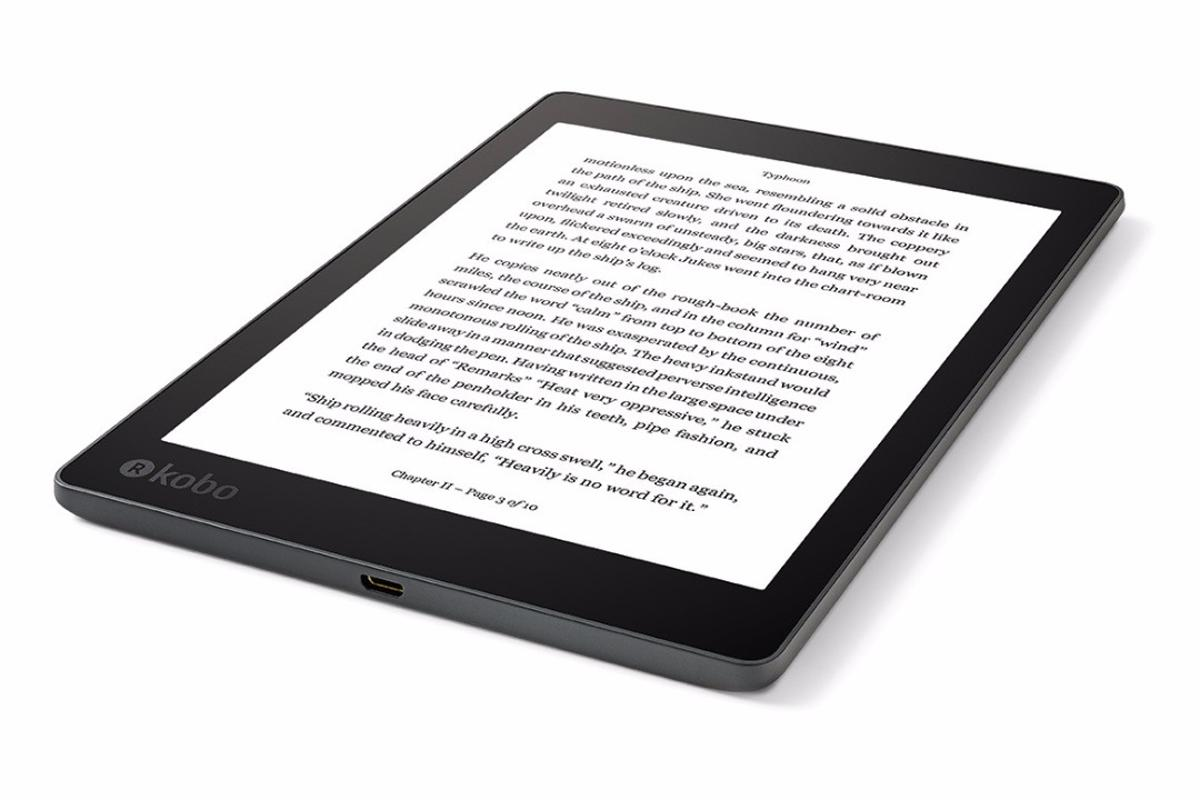 The Kobo Aura One can hold 6,000 books, and can be submerged for up to an hour in two meters of water