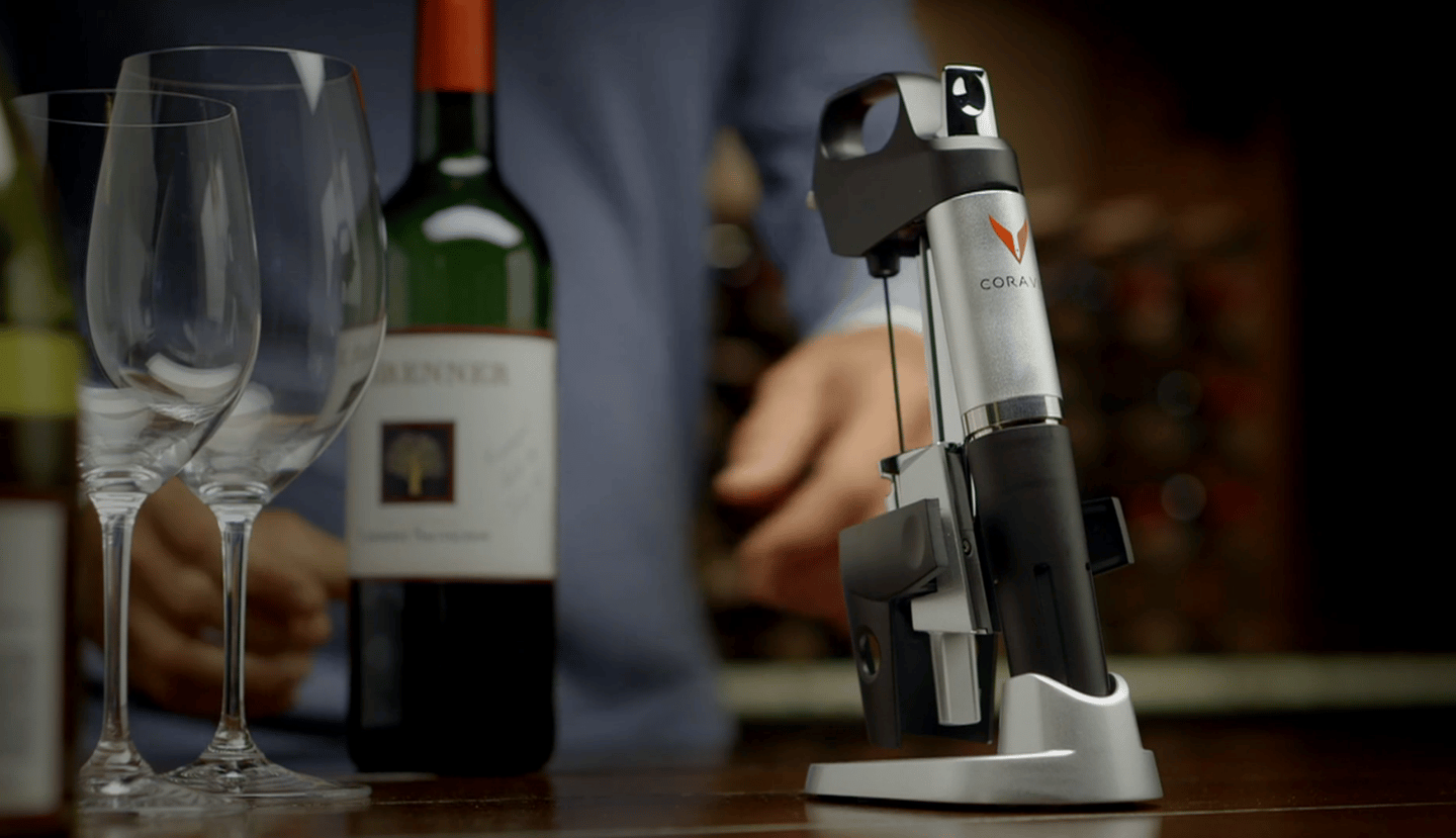 The Coravin 1000 allows for serving vintage wine without having to finish the bottle