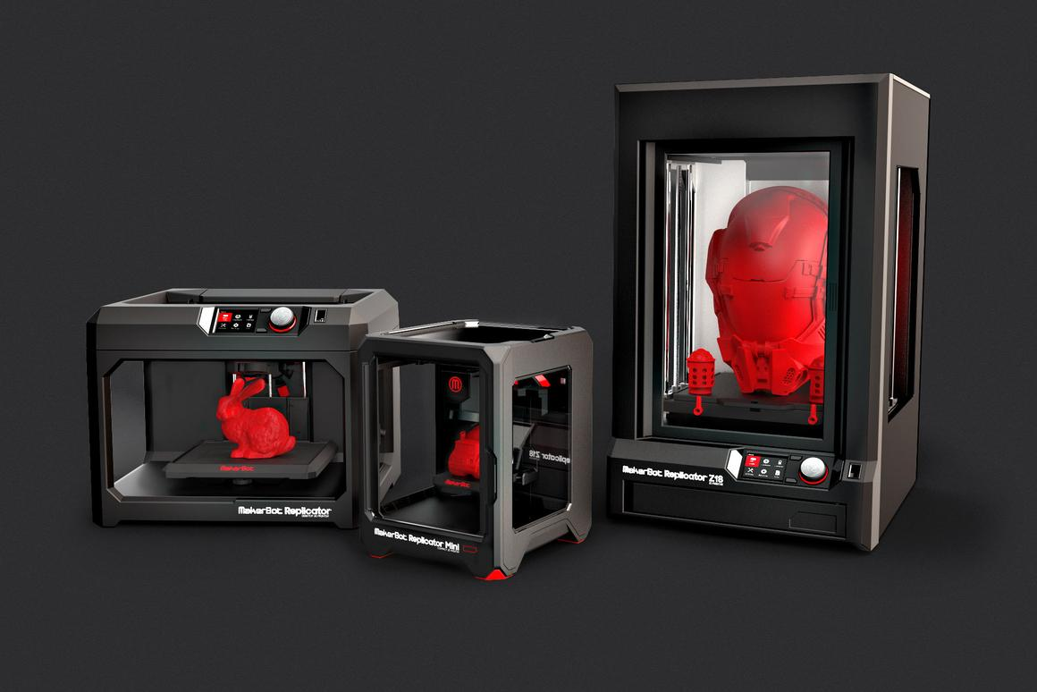 The MakerBot Replicator, the Mini, and the Z18 (left to right)