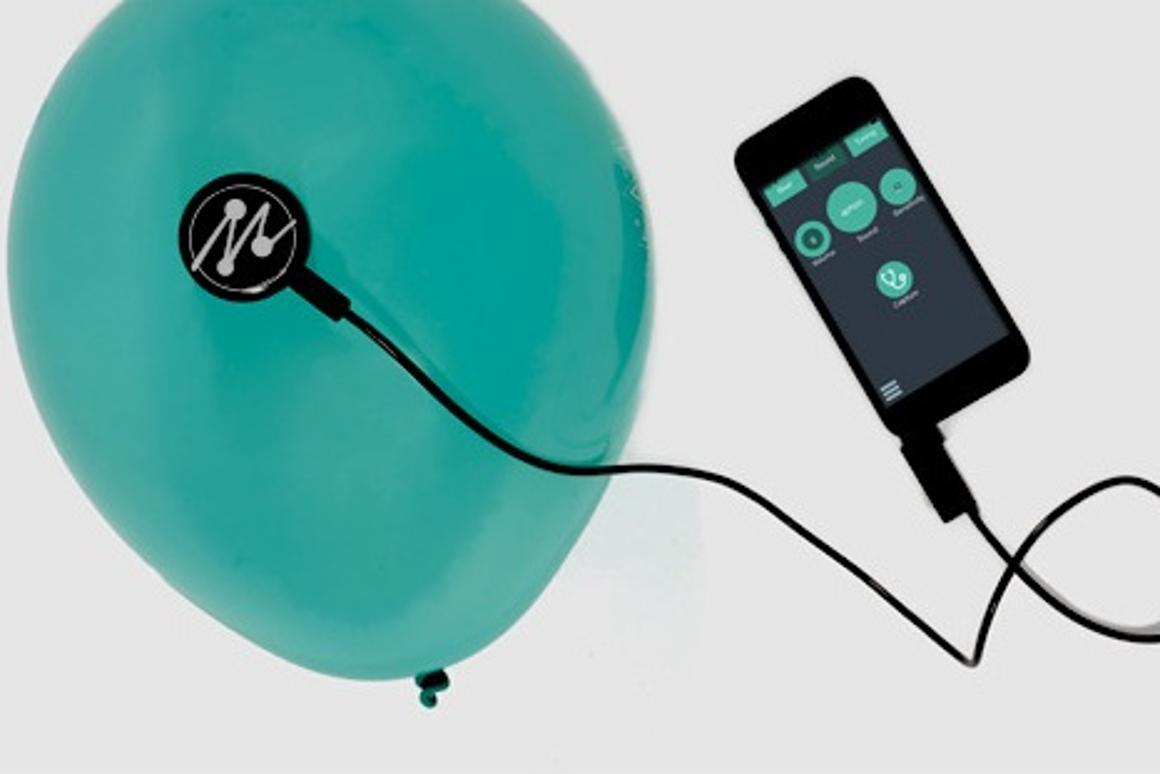 Mogees can turn anything into a musical instrument, even a balloon