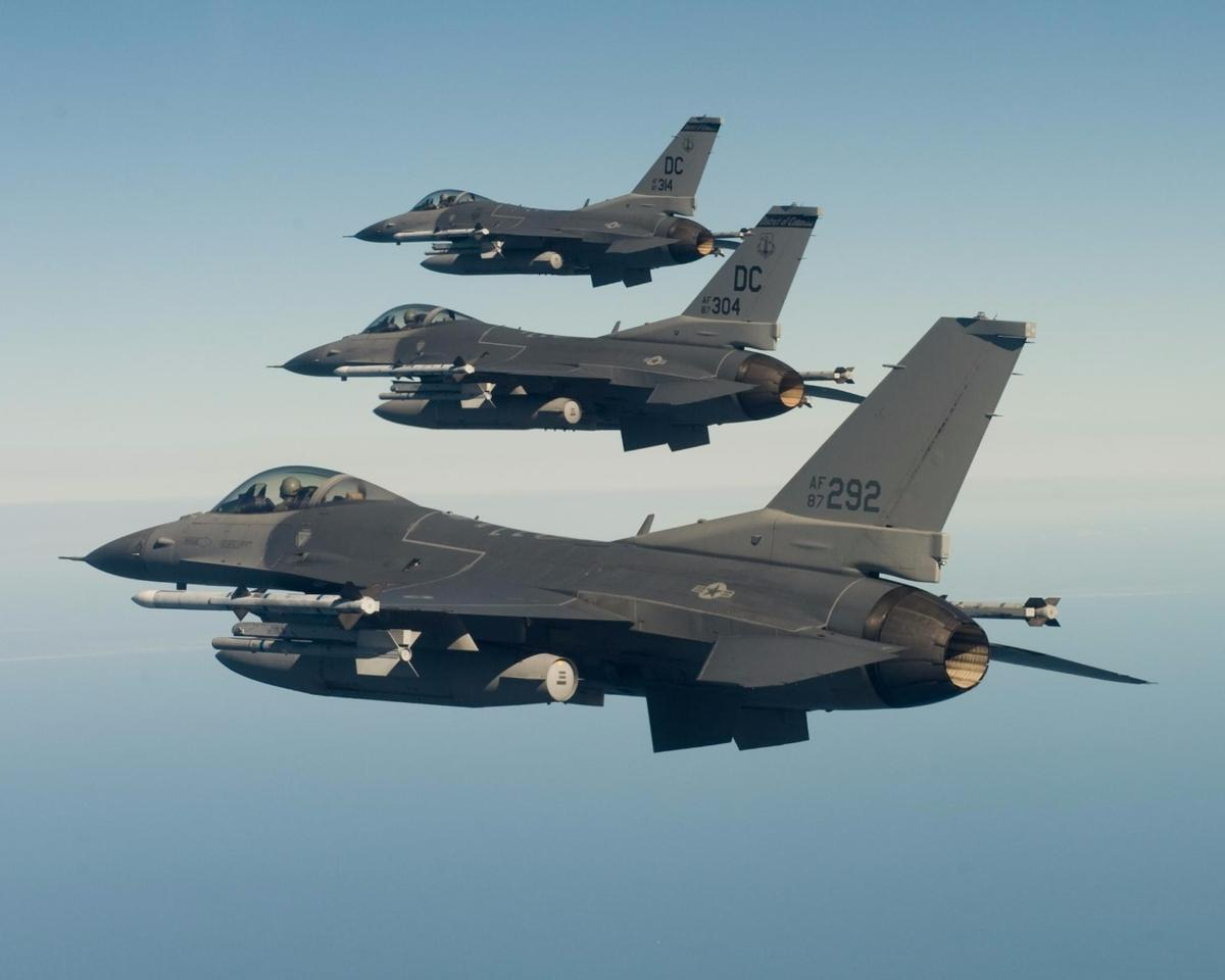 The purpose of the Have Raider II demonstration was to test the ability of an unmanned F-16 to operate alongside manned fighters similar to these