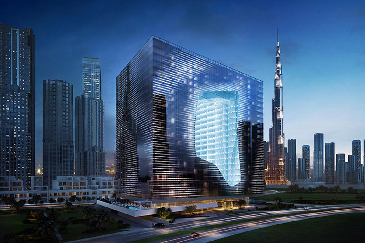 The Opus is a mixed-used development and is Zaha Hadid's first project for Dubai