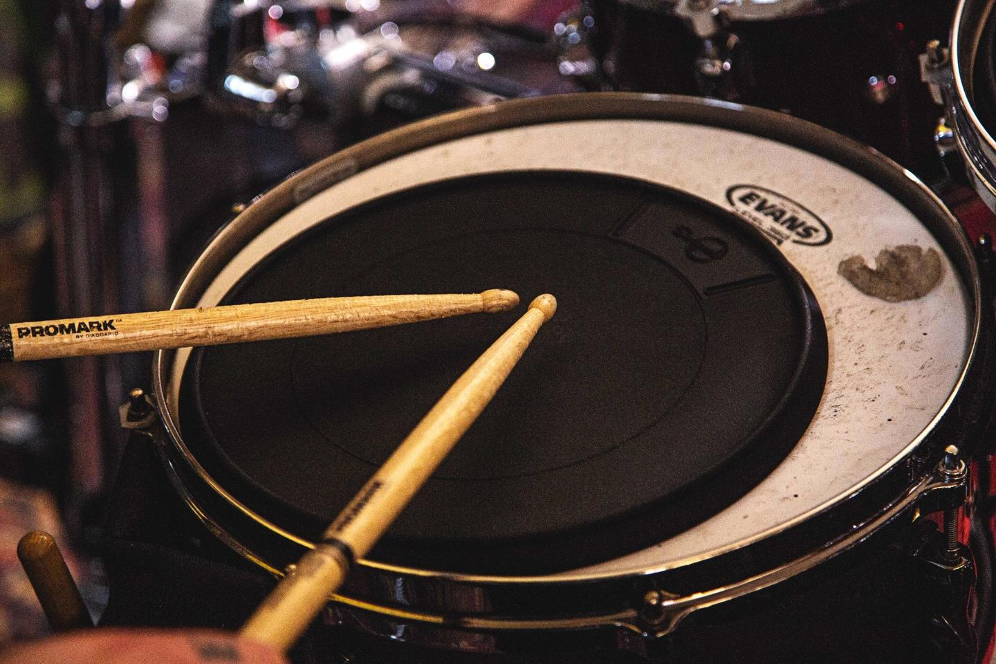 The Senspad could be used to enhance a traditional drum kit, without trailing wires getting in the way