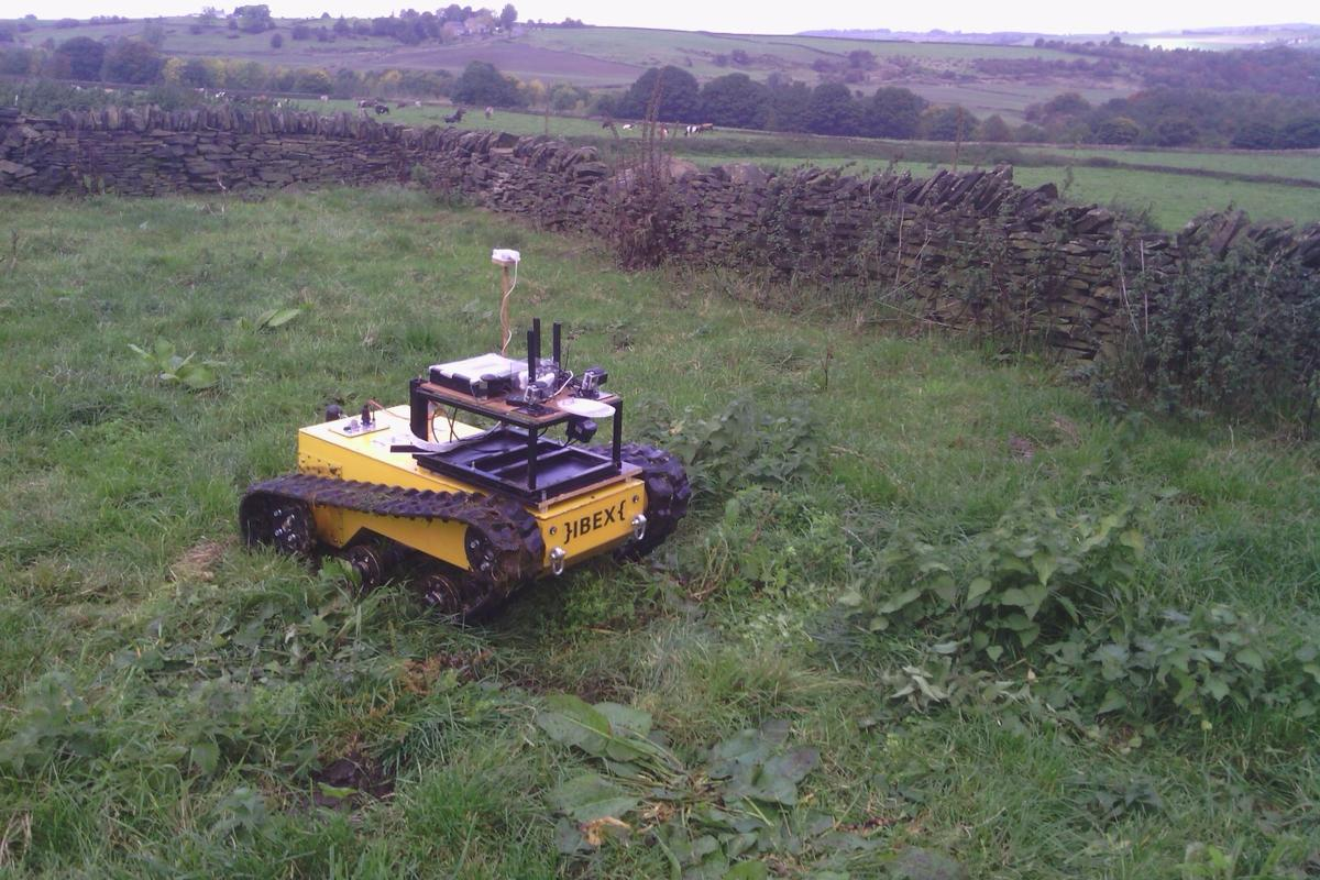 The Ibex robot is designed to operate on hilly agricultural areas that other robots can't