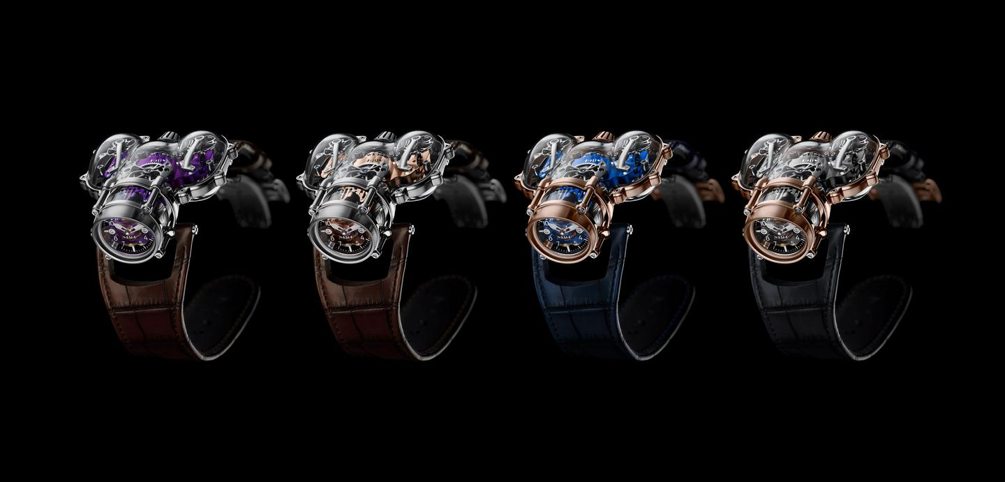The MB&F HM9 Sapphire Vision in four editions