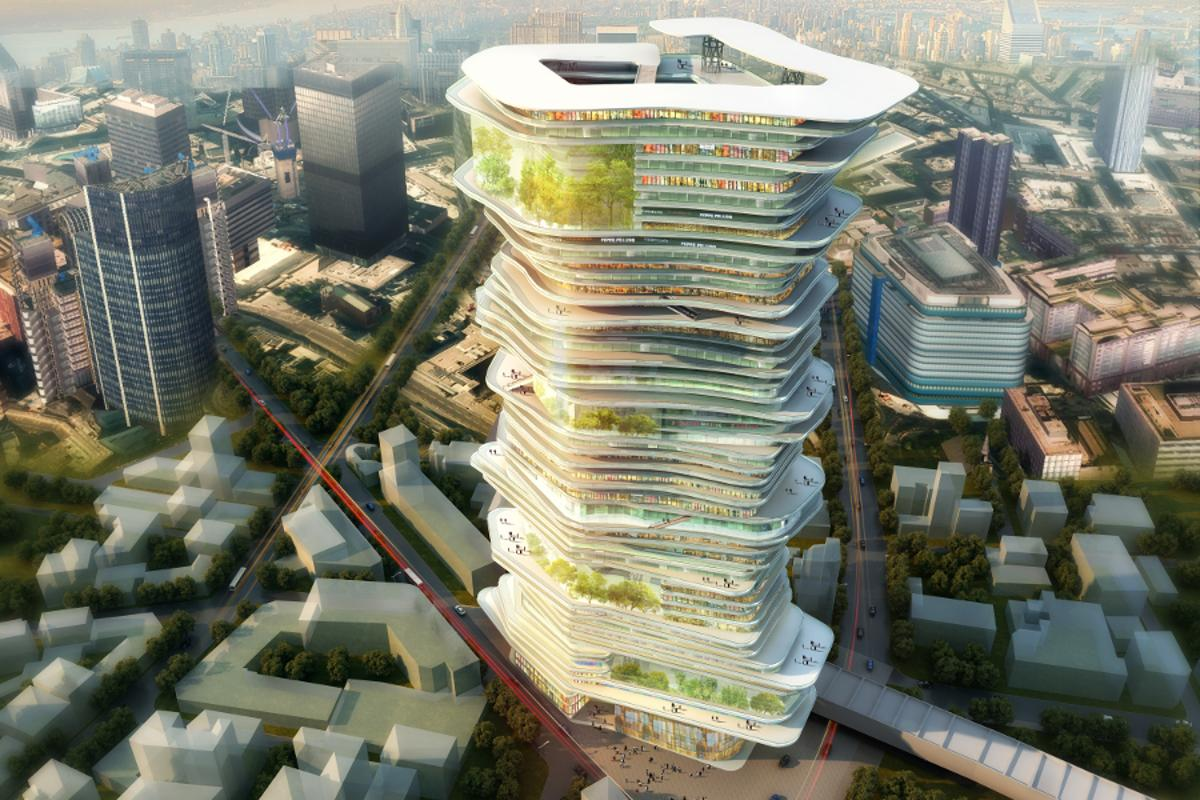 The Endless City in Height concept from Sure Architecture (Image: Sure Architecture)