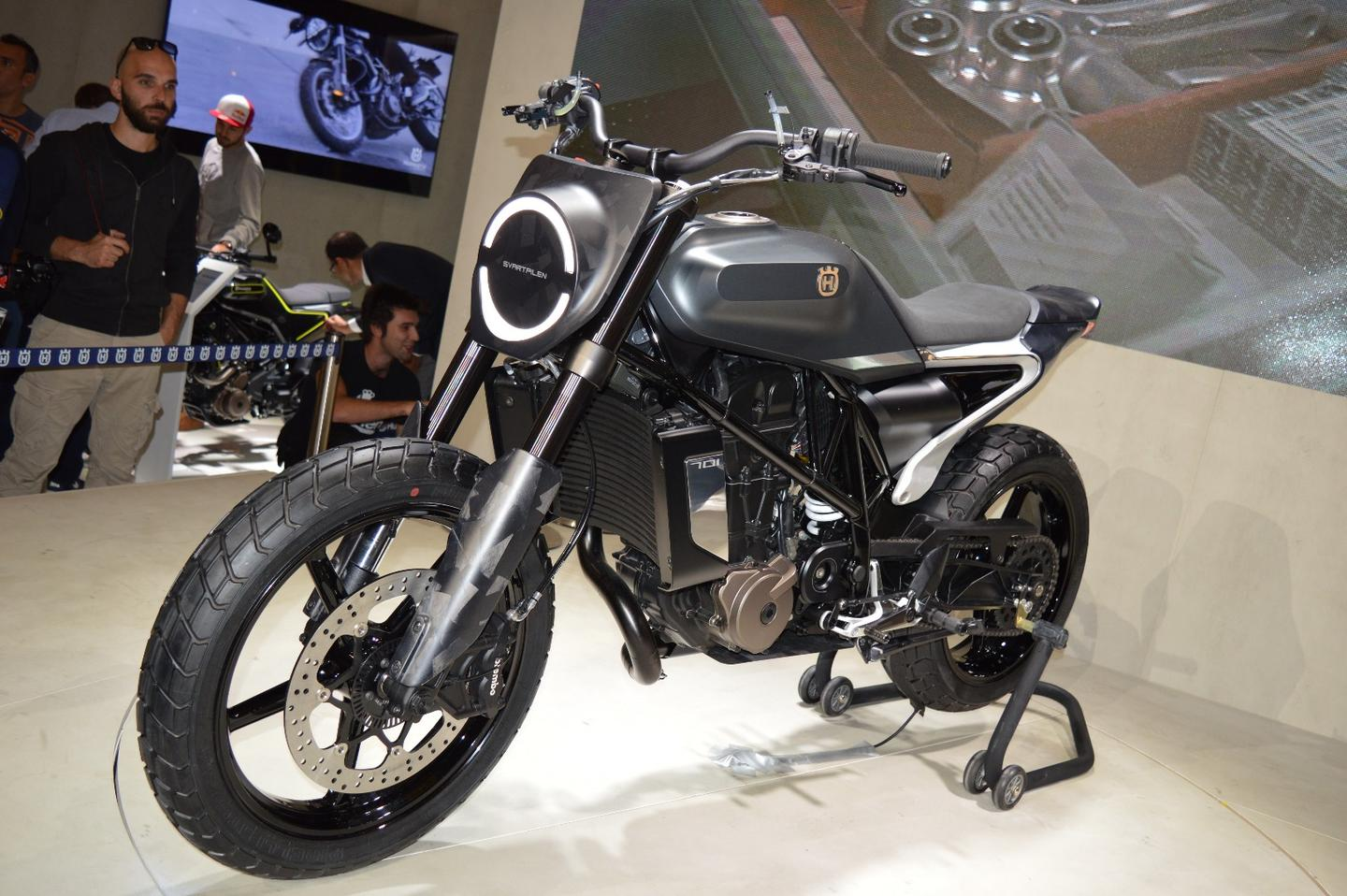 The Svartpilen 701 flat-tracker concept at EICMA 2017