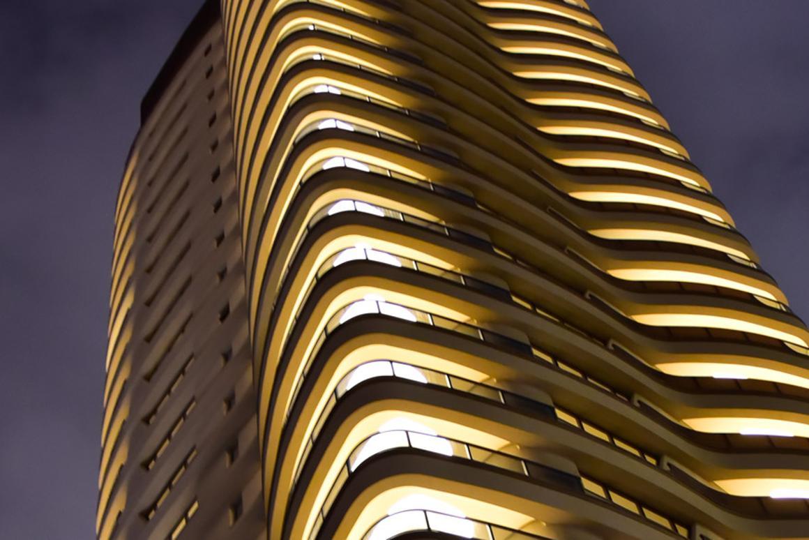 The Cyrela tower was inaugurated by Paolo Pininfarina, manager of Pininfarina, on Monday