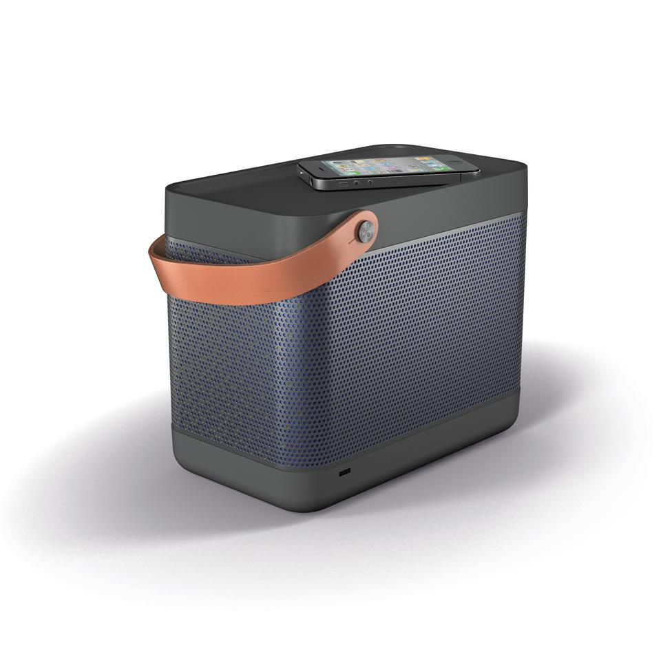 The Bang & Olufsen PLAY Beolit 12 AIRPLAY is about the size of a small car battery at 23 x 15 x 18.8 cm, weighing slightly less at 2.8 kg
