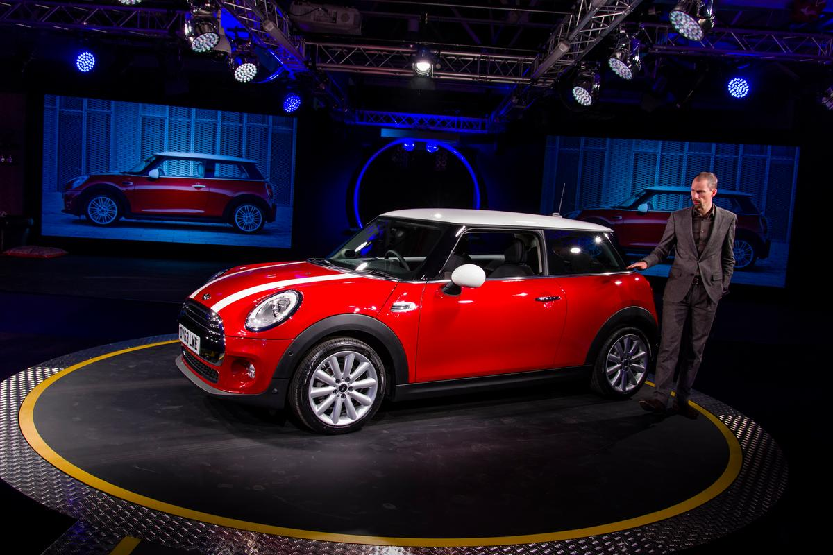 The premiere of the new Mini Cooper in Oxford