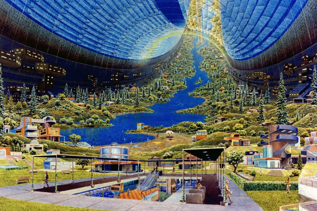 The archetypal space colony image? Don Davis' depiction of a Stanford torus space station