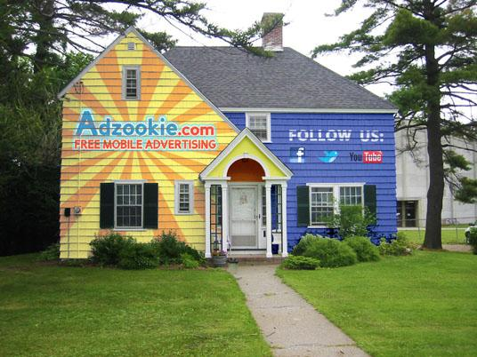 Adzookie will pay the home-owner's mortgage for the time that the house remains painted (Image: Adzookie)