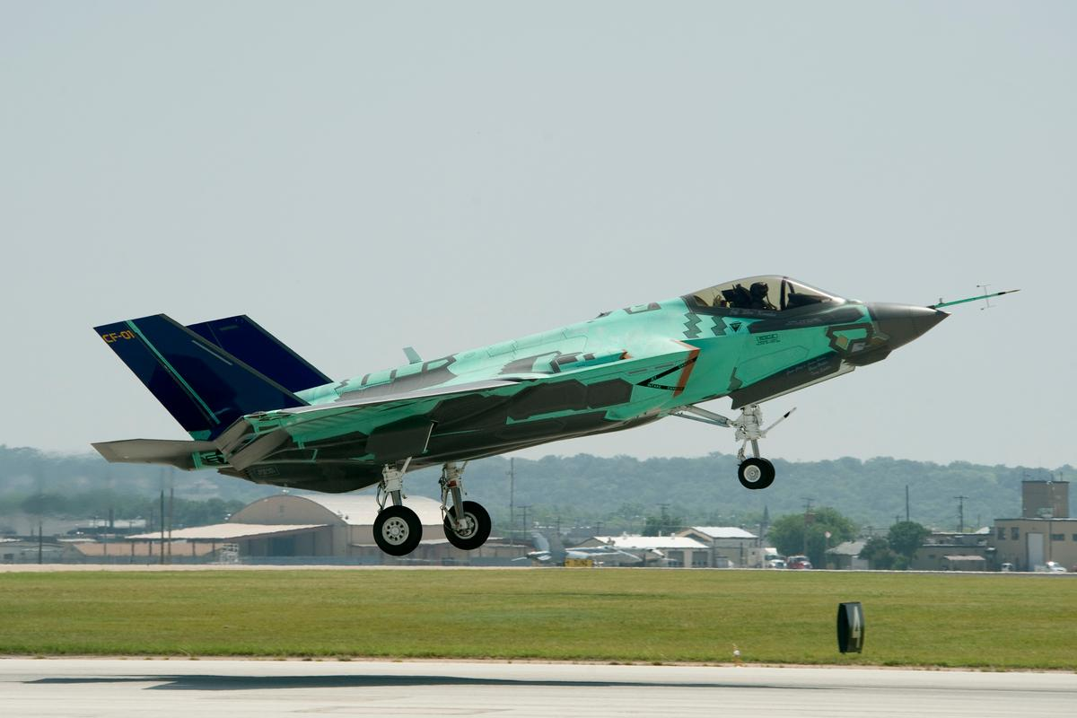 The F-35B short takeoff/vertical landing (STOVL) variant has broken the sound barrier for the first time