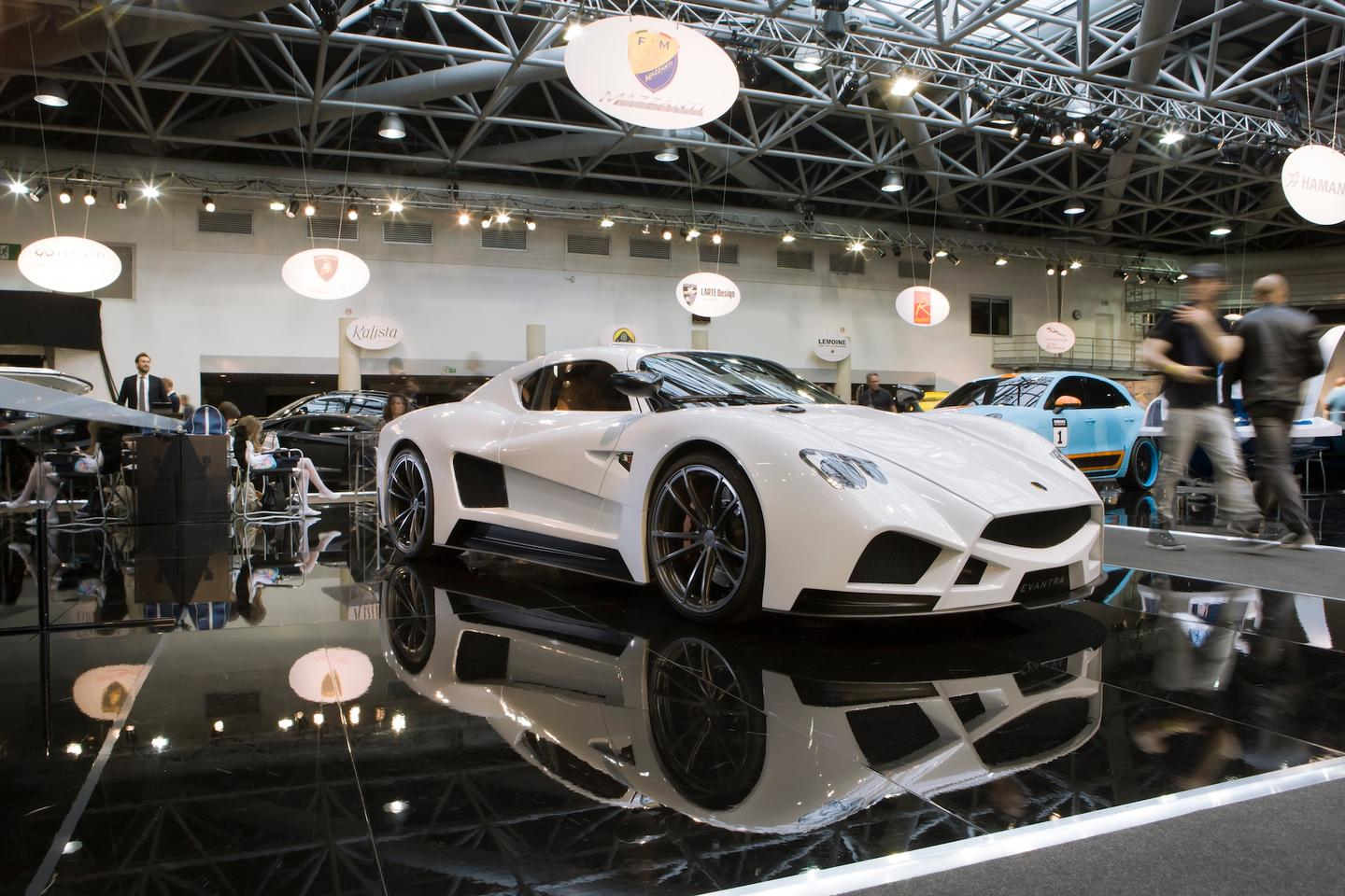 The Mazzanti's new White Dolomite paint job is inspired by Tuscan marble