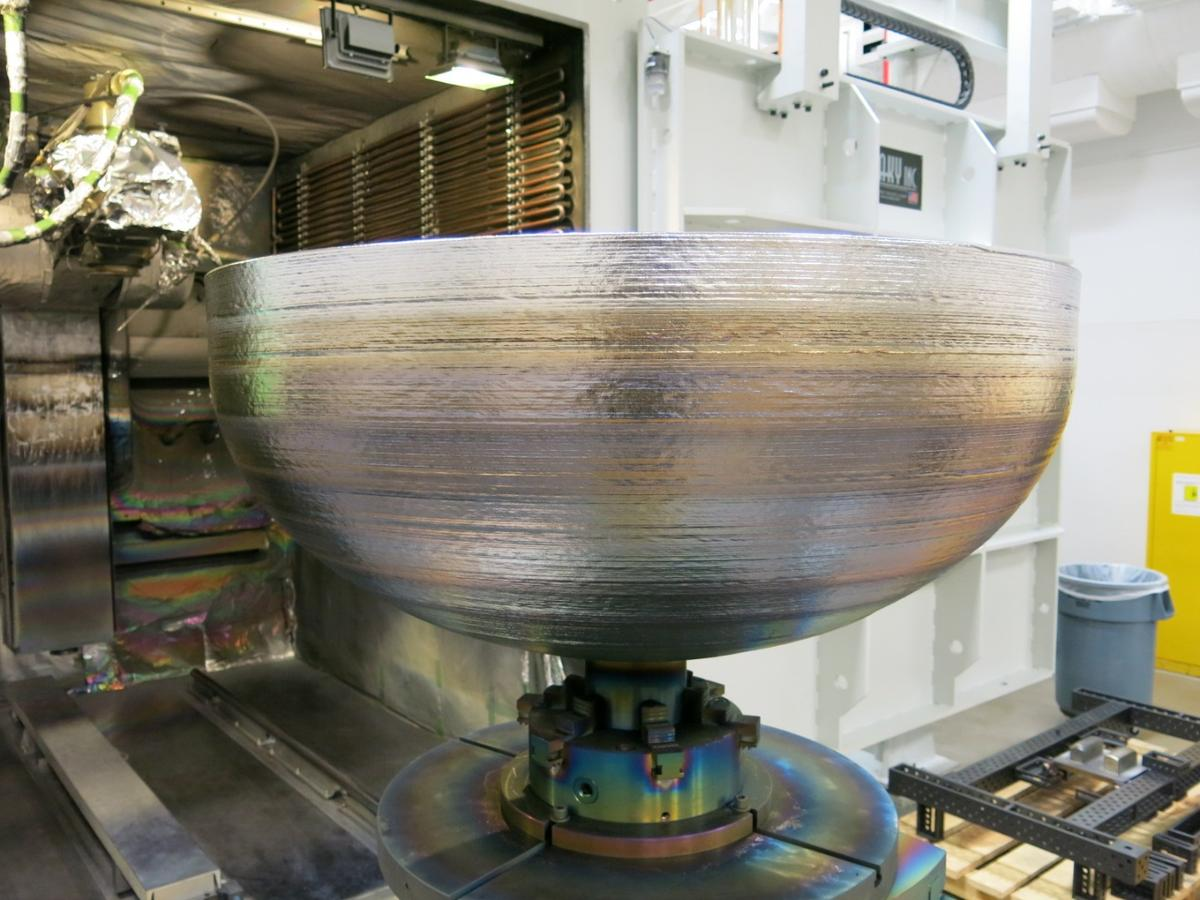 Lockheed Martin has 3D printed its largest items ever: titanium domes designed to cap off fuel tanks for satellites