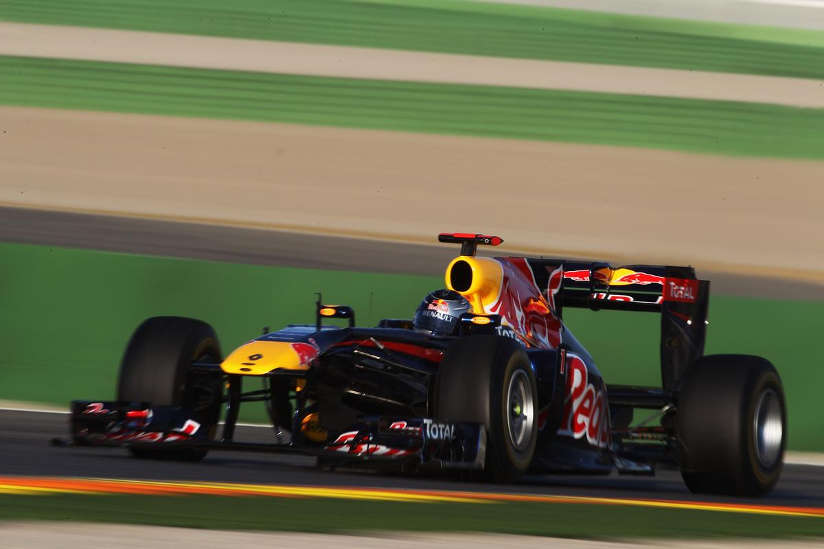 The RB7 takes to the track for the first time at the hands of the youngest-ever world champion, Sebastian Vettel.