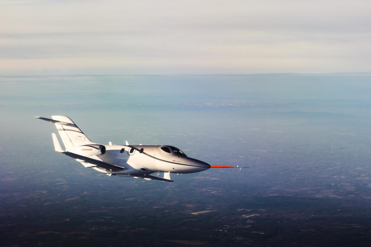 HondaJet has achieved a maximum speed of 425 KTAS at 30,000 ft (Photo: Honda)