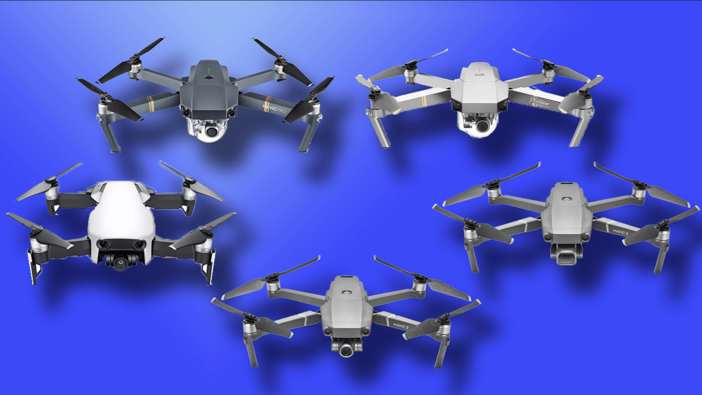 New Atlas compares the specs and features of DJI's Mavic Pro, Pro Platinum, Air,2 Zoom and 2 Pro
