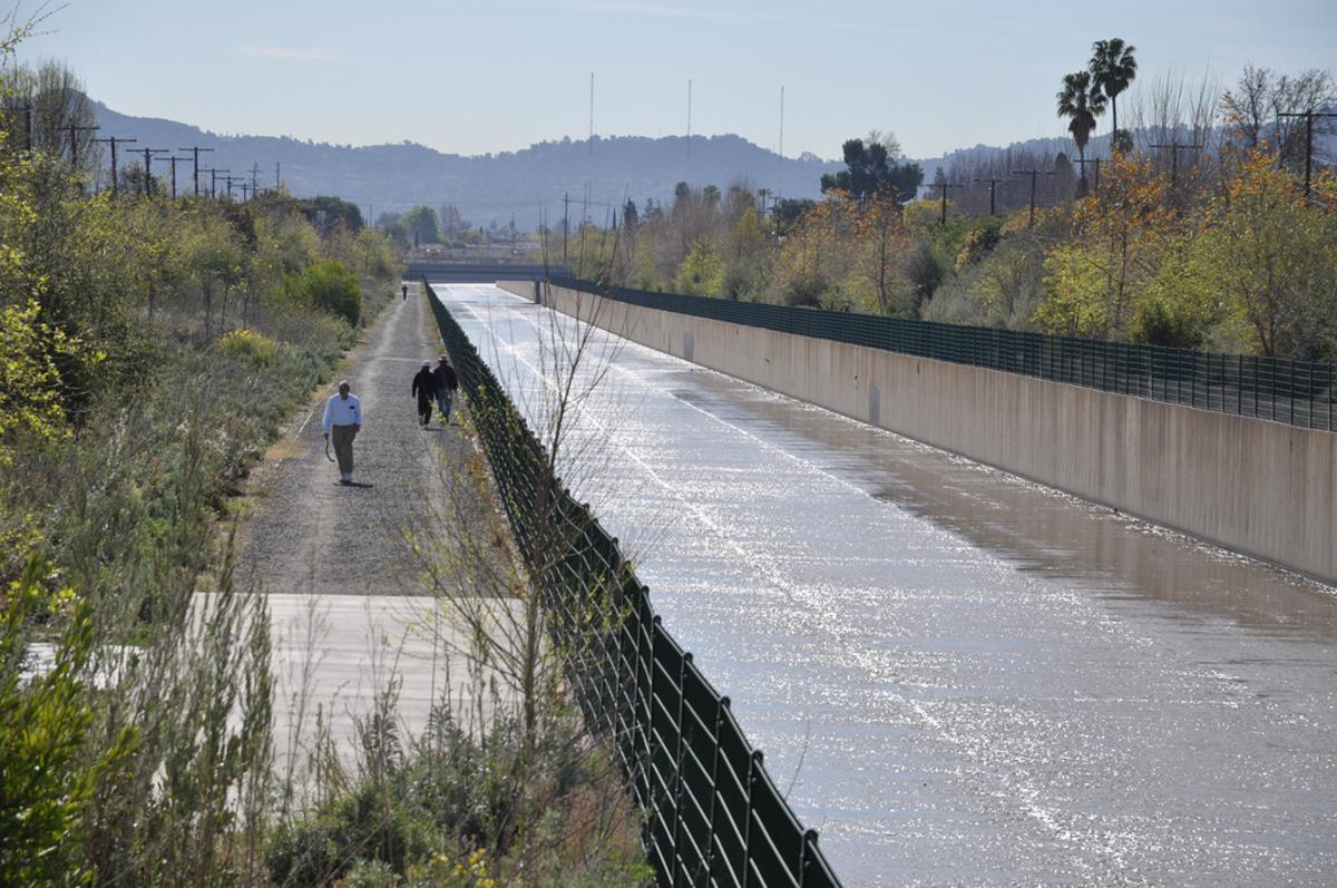 Frank Gehry aims to turn the L.A. River into a system that could store and even treat storm water for use (Credit: US Army Cops of Engineers Los Angeles/Jay Field)